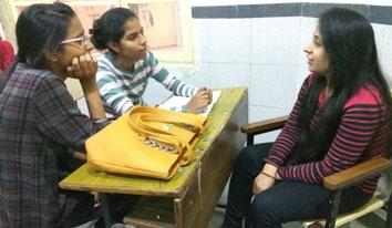 Mentoring session at Delhi